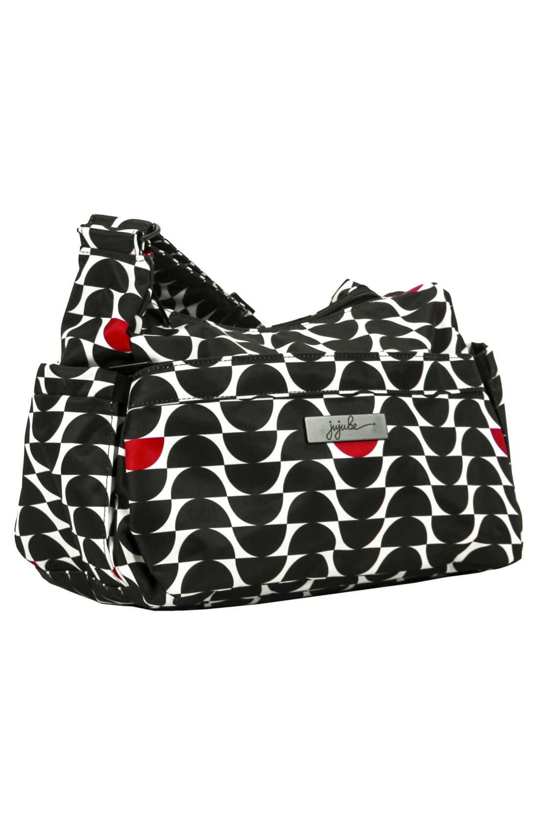 'HoboBe' Diaper Bag,                             Alternate thumbnail 3, color,                             Black Widow