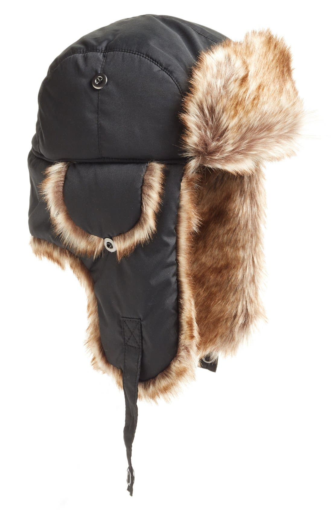 Main Image - Phase 3 Faux Fur Lined Trapper Hat