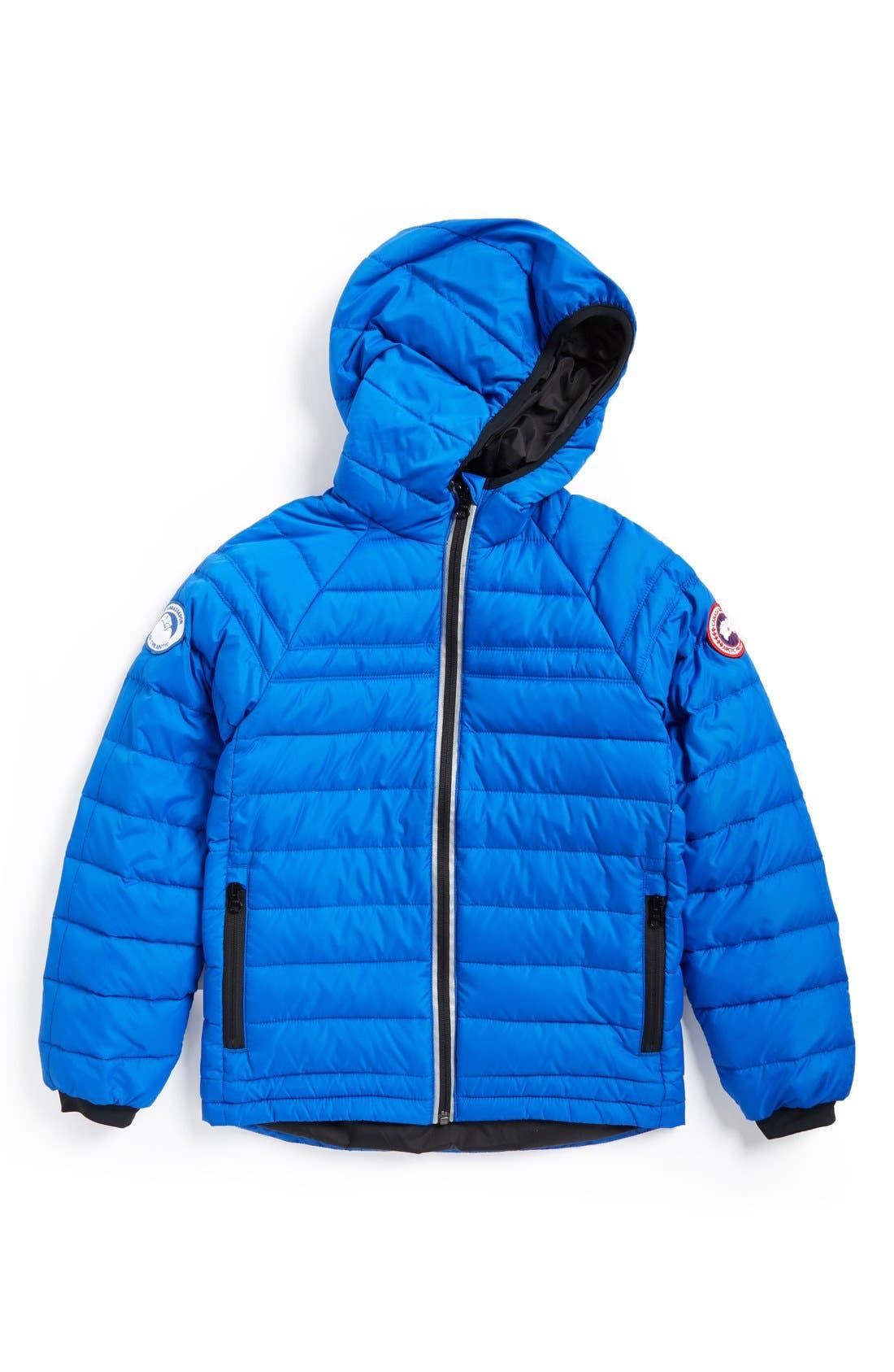 Sherwood Hooded Packable Jacket,                         Main,                         color, Royal Blue