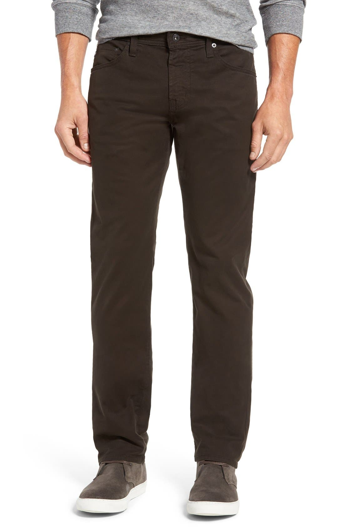 'Matchbox BES' Slim Fit Pants,                             Main thumbnail 1, color,                             Deep Bark