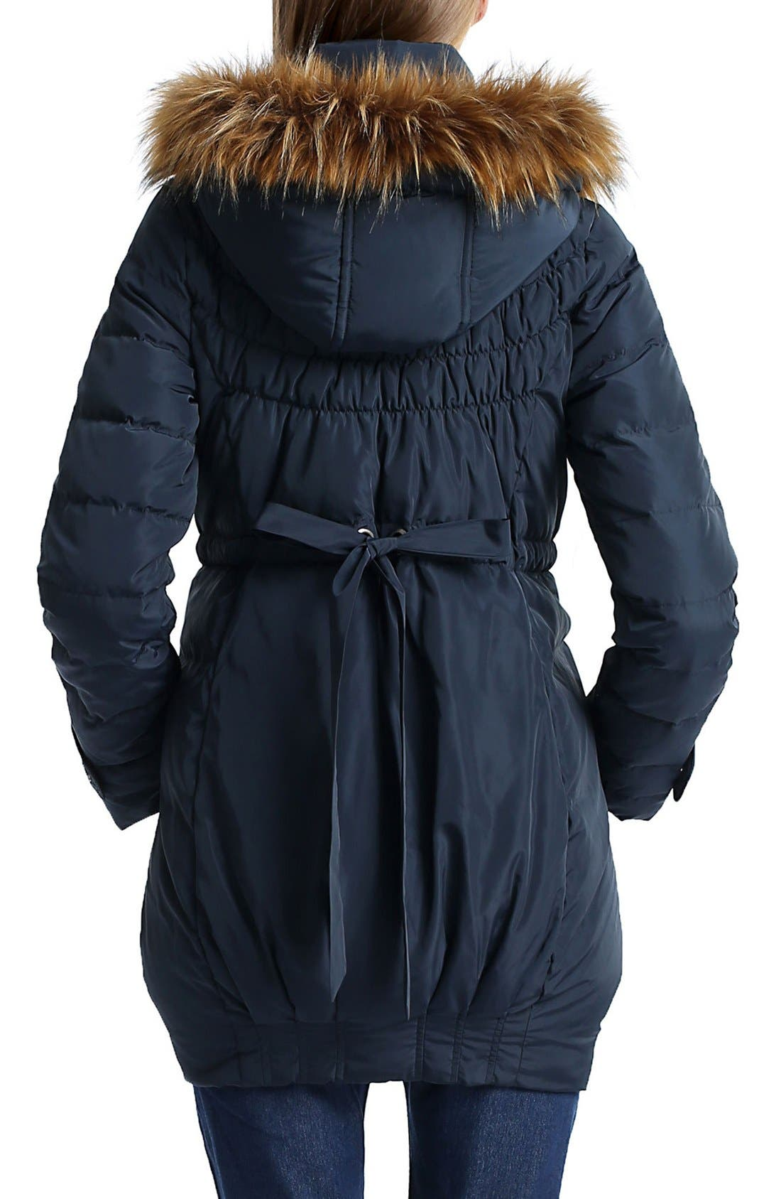 'Arlo' Water Resistant Down Maternity Parka with Baby Carrier Cover Inset,                             Alternate thumbnail 2, color,                             Navy