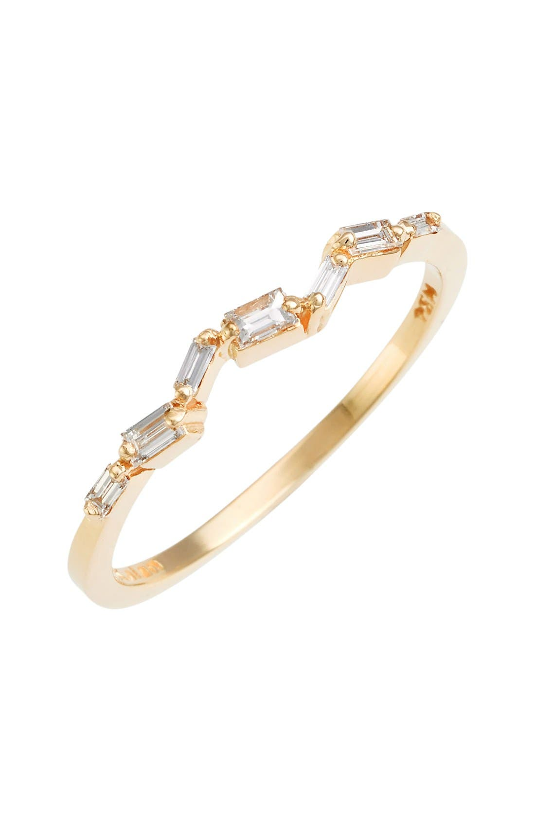 Thin Baguette Stacking Band Ring,                         Main,                         color, Yellow Gold
