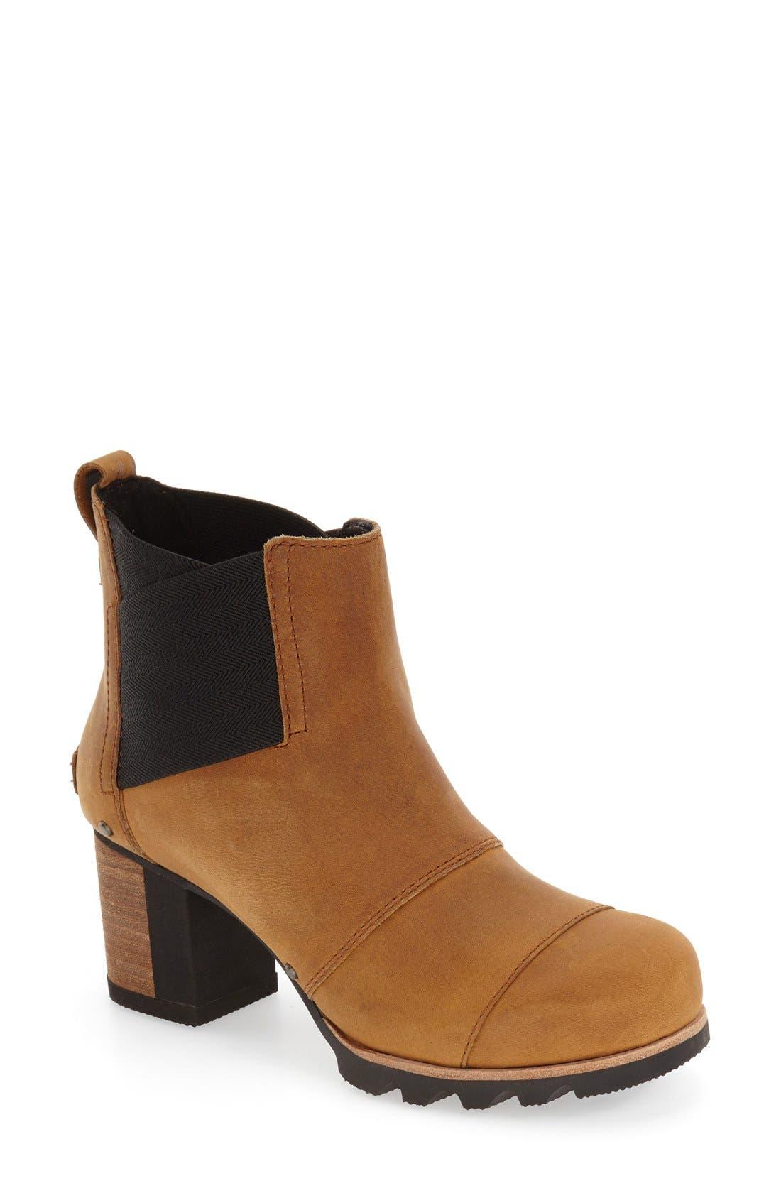 'Addington' Waterproof Chelsea Boot,                             Main thumbnail 1, color,                             Autumn Bronze