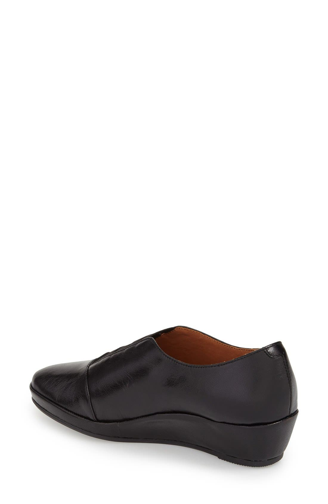 'Beziers' Slip-On,                             Alternate thumbnail 2, color,                             Black Leather