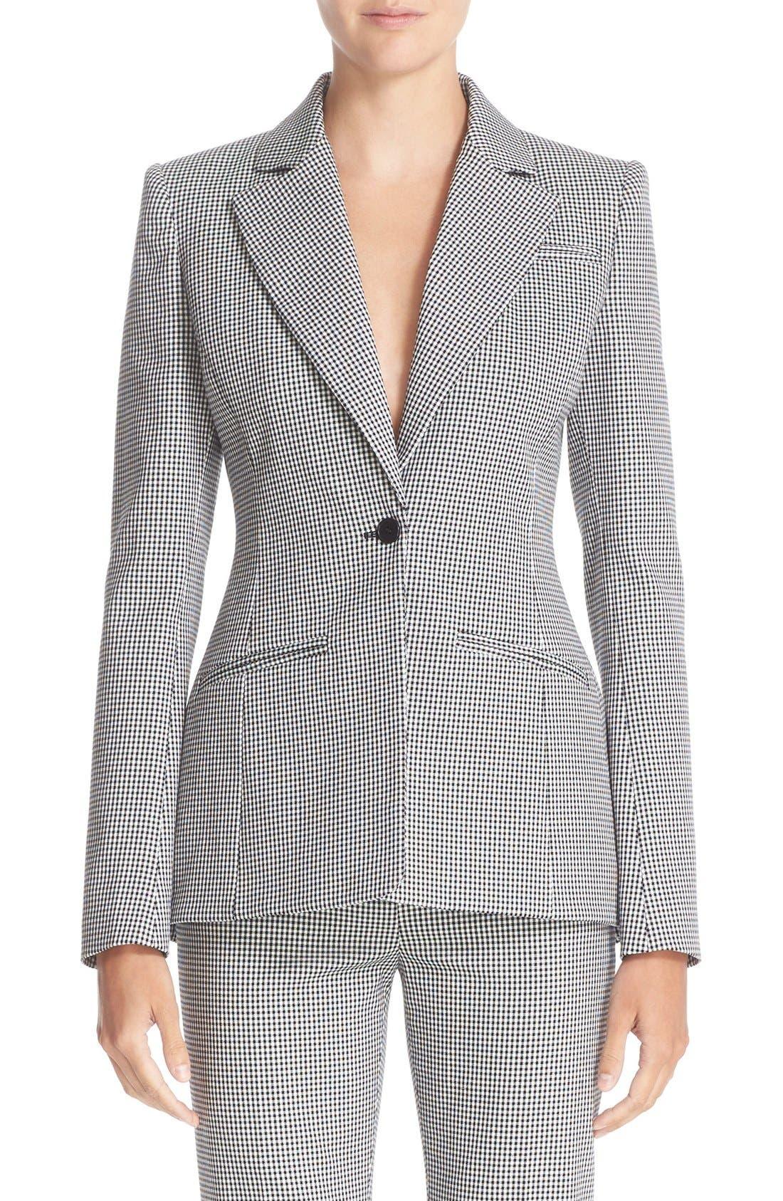 Main Image - Altuzarra Acacia Mini Gingham Jacket