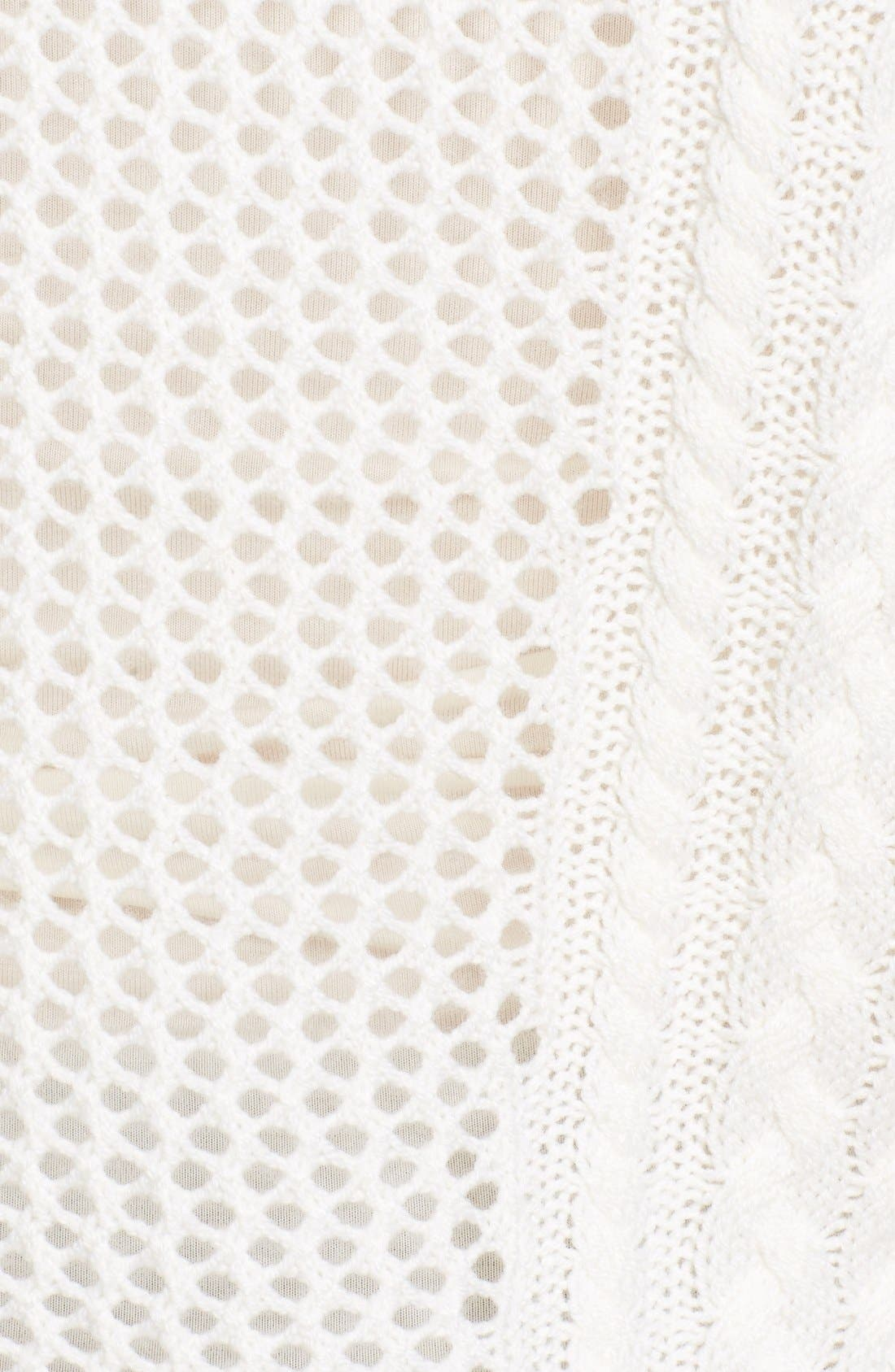 Amory Open Knit Sweater,                             Alternate thumbnail 5, color,                             Ivory