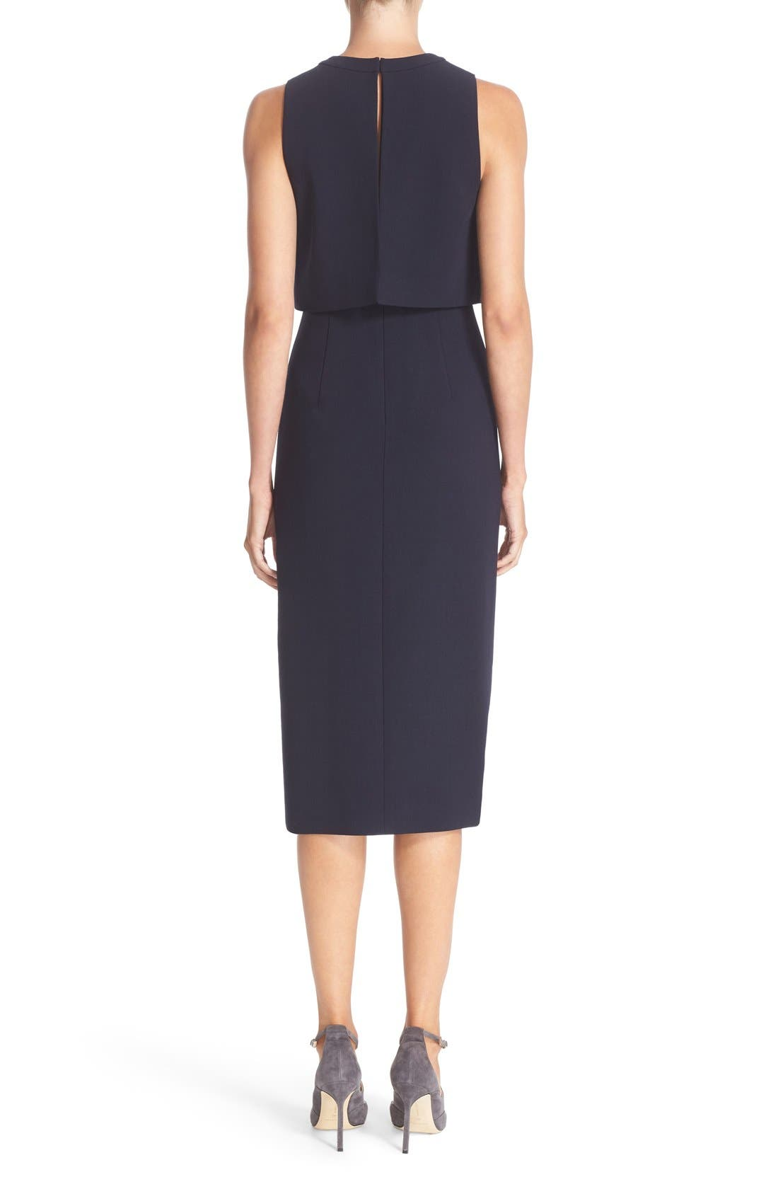 Alternate Image 2  - Nordstrom Signature and Caroline Issa Swing Back Crepe Dress