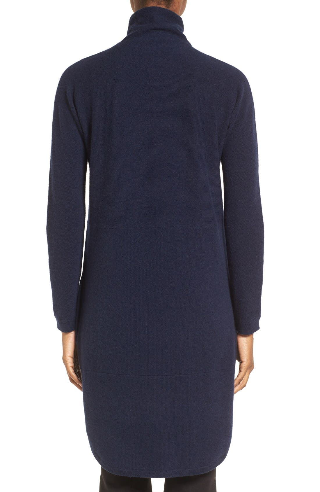 Alternate Image 2  - Nordstrom Collection Funnel Neck Cashmere Tunic