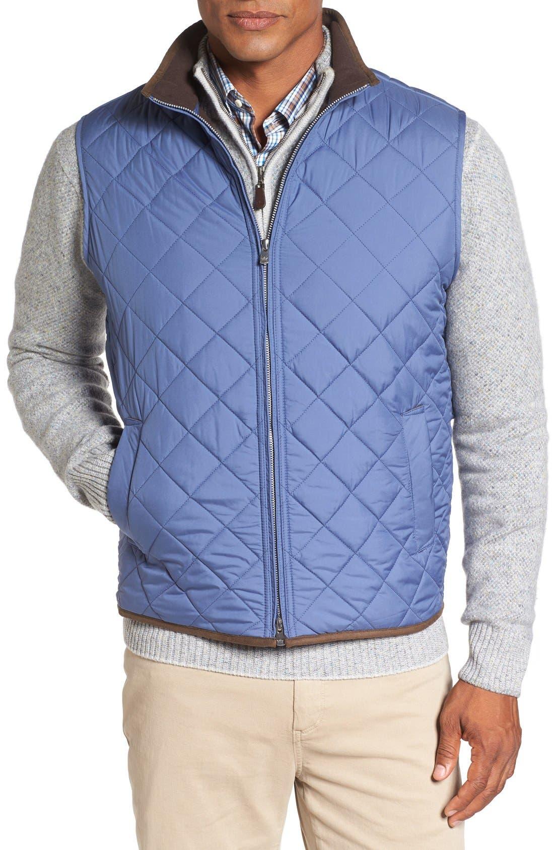Main Image - Peter Millar 'Hudson' Lightweight Quilted Vest