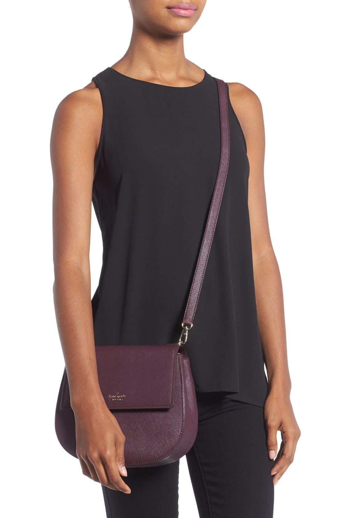 cameron street - byrdie leather crossbody bag,                             Alternate thumbnail 3, color,