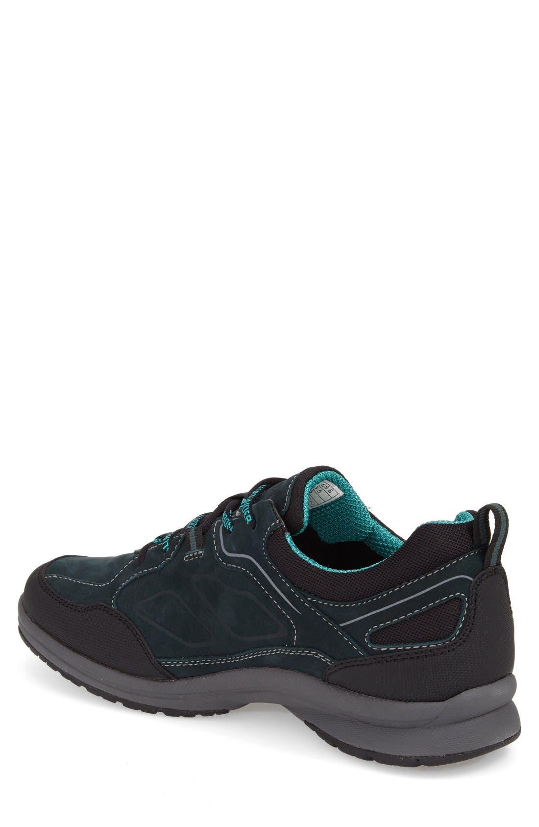'Dascha Tex' Waterproof Sneaker,                             Alternate thumbnail 2, color,                             Black/ Olive Nubuck Leather