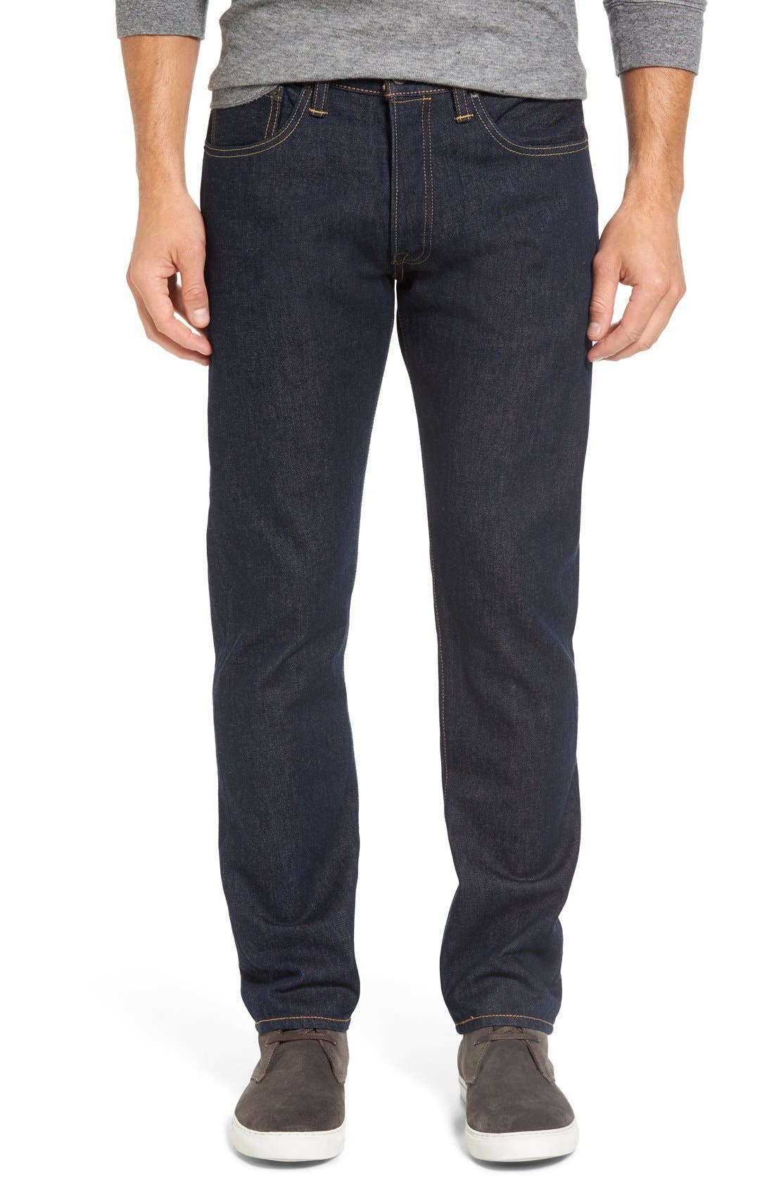 Alternate Image 1 Selected - Levi's® 501® CT Slim Fit Jeans (Noten) (Regular & Tall)