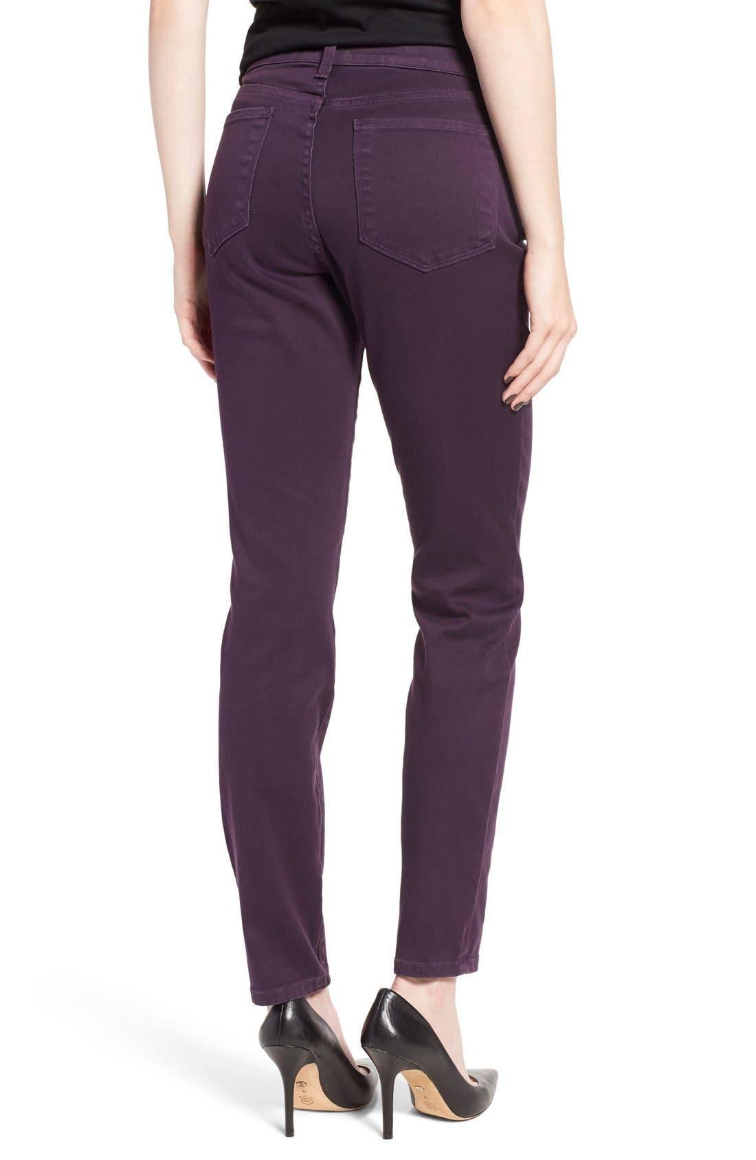 Alina Colored Stretch Skinny Jeans,                             Alternate thumbnail 2, color,                             Deep Violette