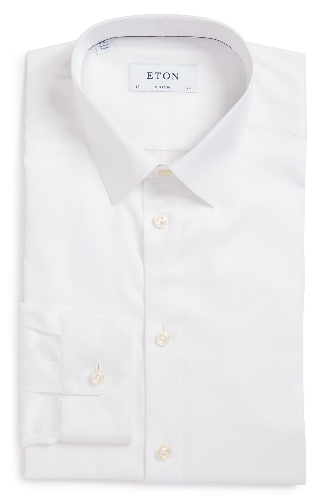 Main Image - Eton Super Slim Fit Twill Dress Shirt