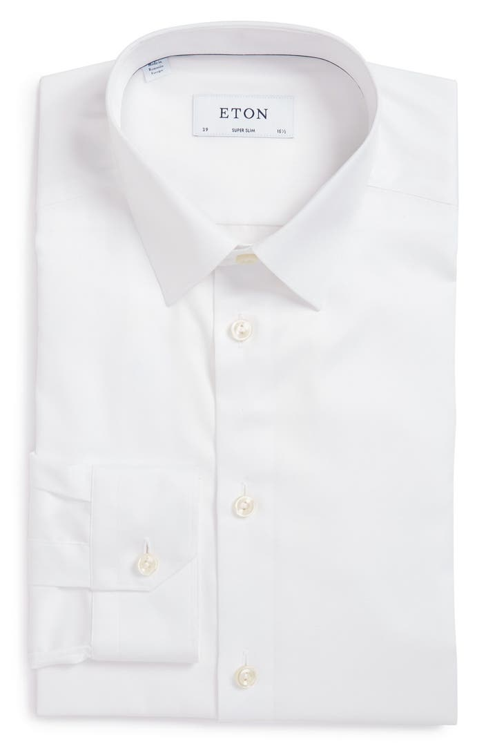 Eton Super Slim Fit Twill Dress Shirt Nordstrom