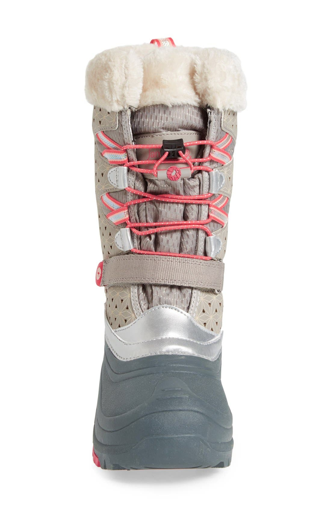 'Venom' Waterproof Insulated Snow Boot,                             Alternate thumbnail 3, color,                             Grey/ Pink