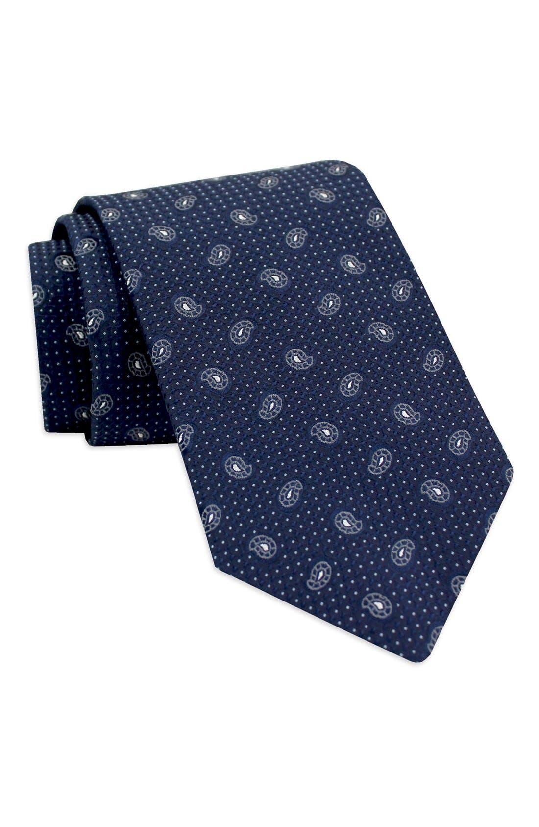 Alternate Image 1 Selected - Gitman Paisley Silk Tie (X-Long)