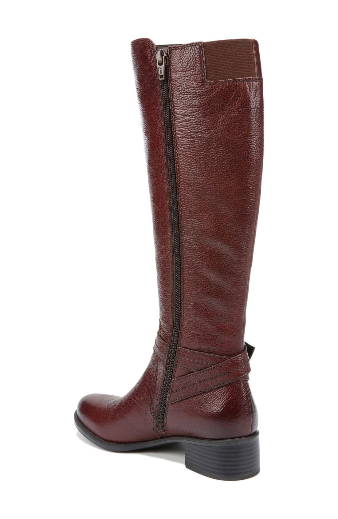 'Wynnie' Riding Boot,                             Alternate thumbnail 2, color,                             Brown Leather