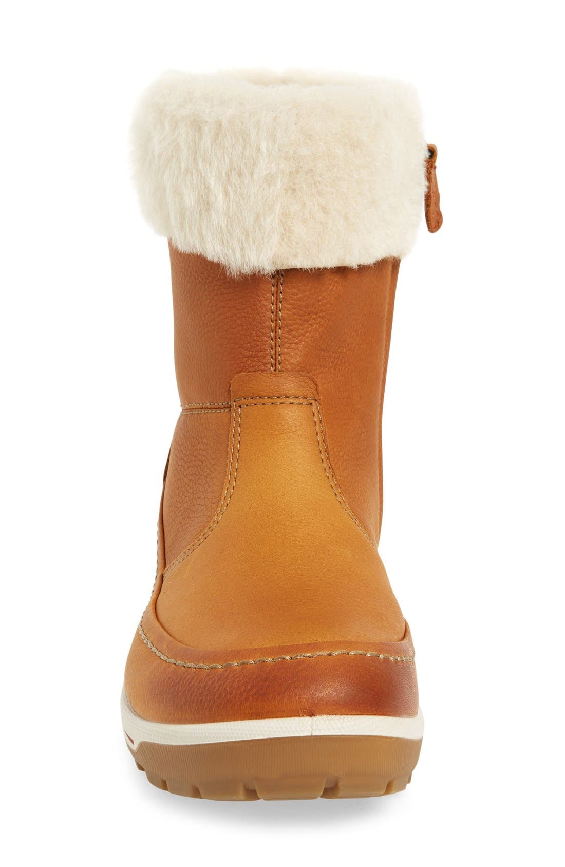 Trace Water Resistant Bootie,                             Alternate thumbnail 3, color,                             Amber Oiled Nubuck Leather