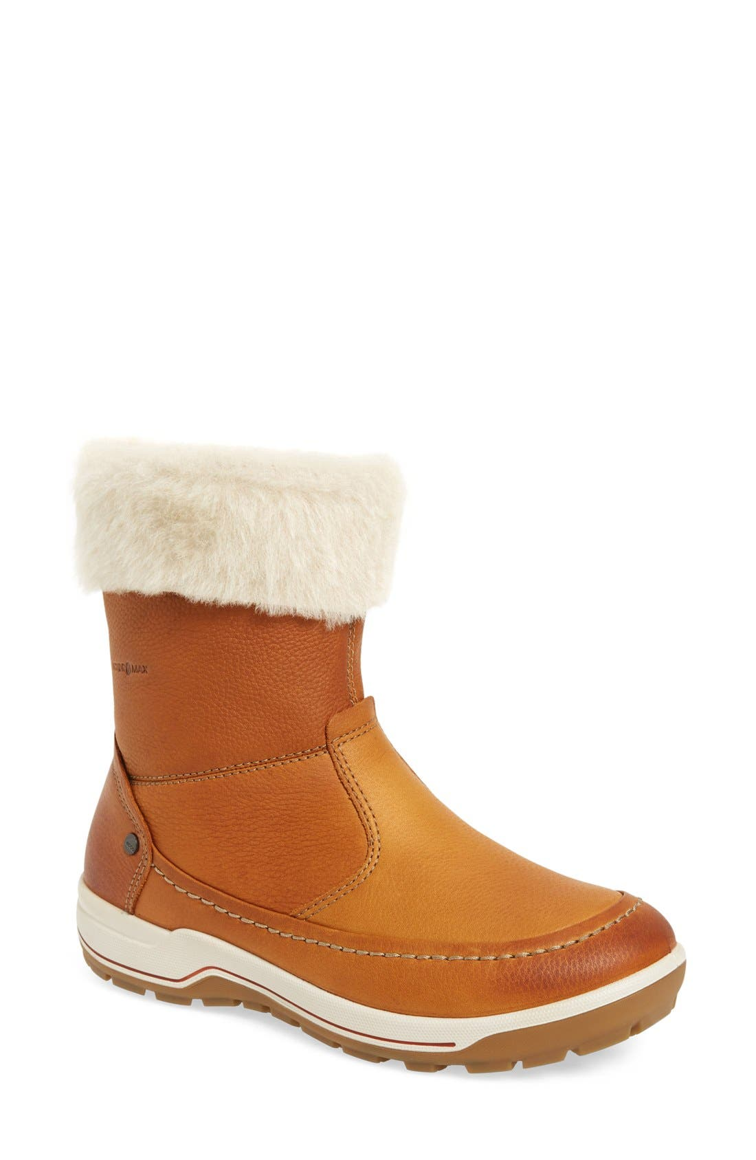 Trace Water Resistant Bootie,                             Main thumbnail 1, color,                             Amber Oiled Nubuck Leather