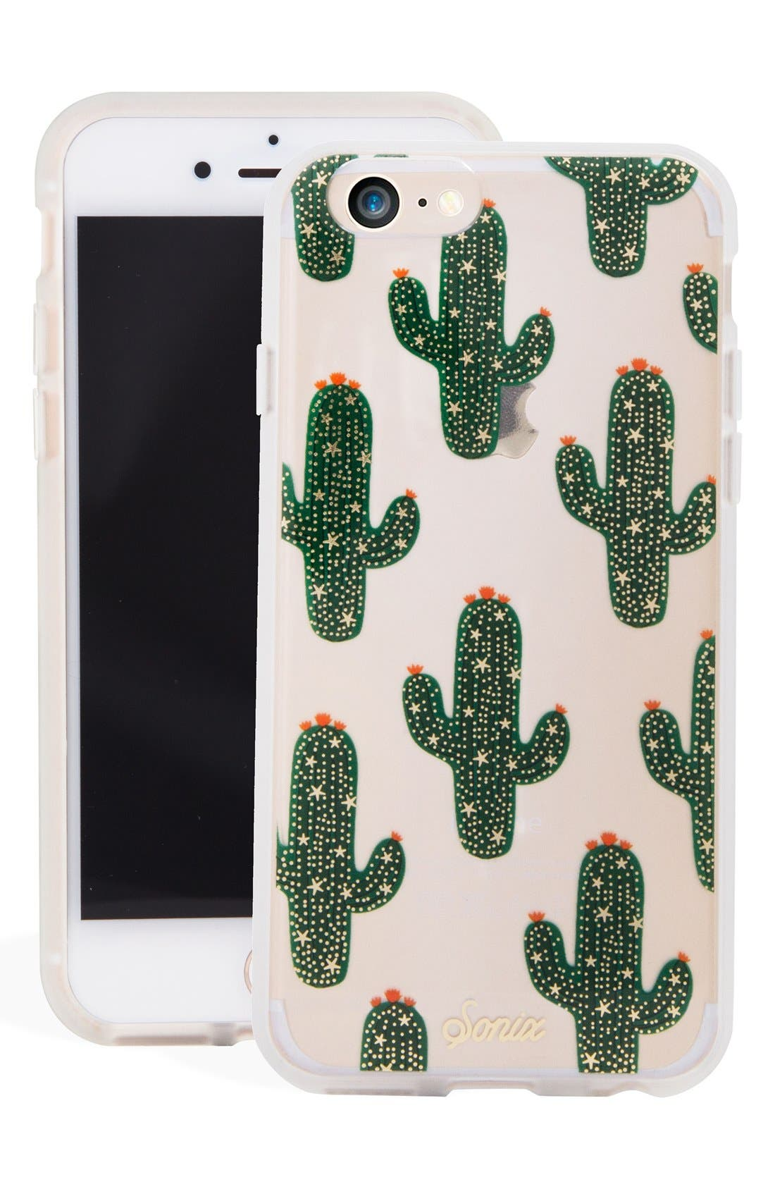 Saguaro iPhone 6/6s/7/8 Case,                             Main thumbnail 1, color,                             Green