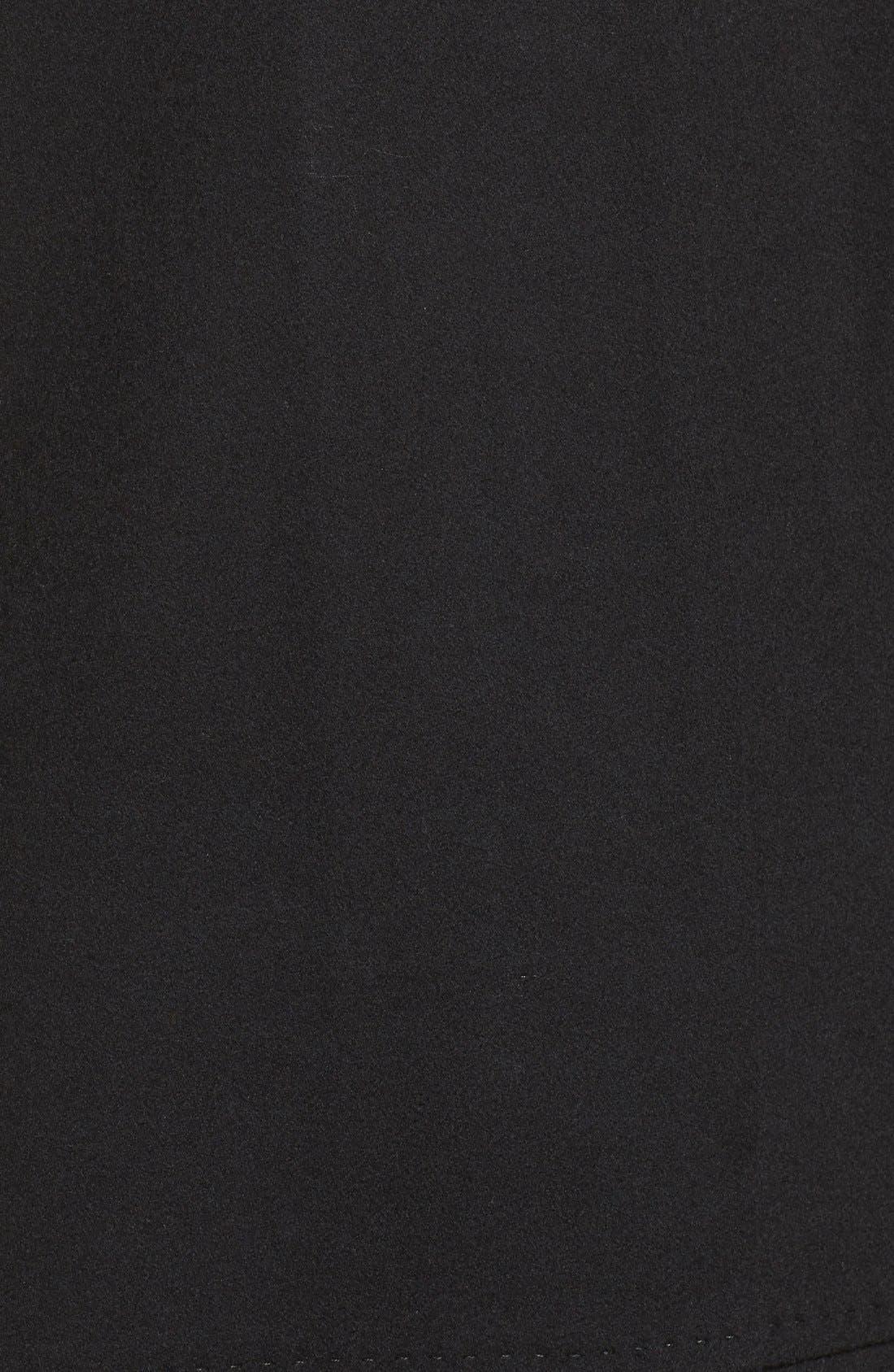 Loro Piana Wool Car Coat,                             Alternate thumbnail 5, color,                             Black