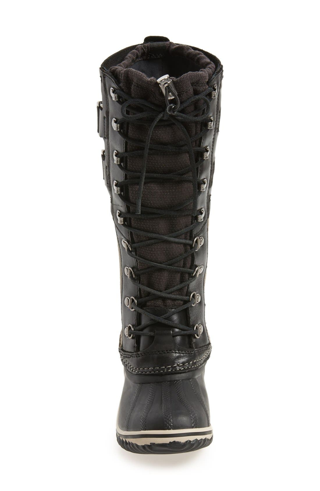 'Conquest Carly II' Waterproof Mid Calf Boot,                             Alternate thumbnail 3, color,                             Black