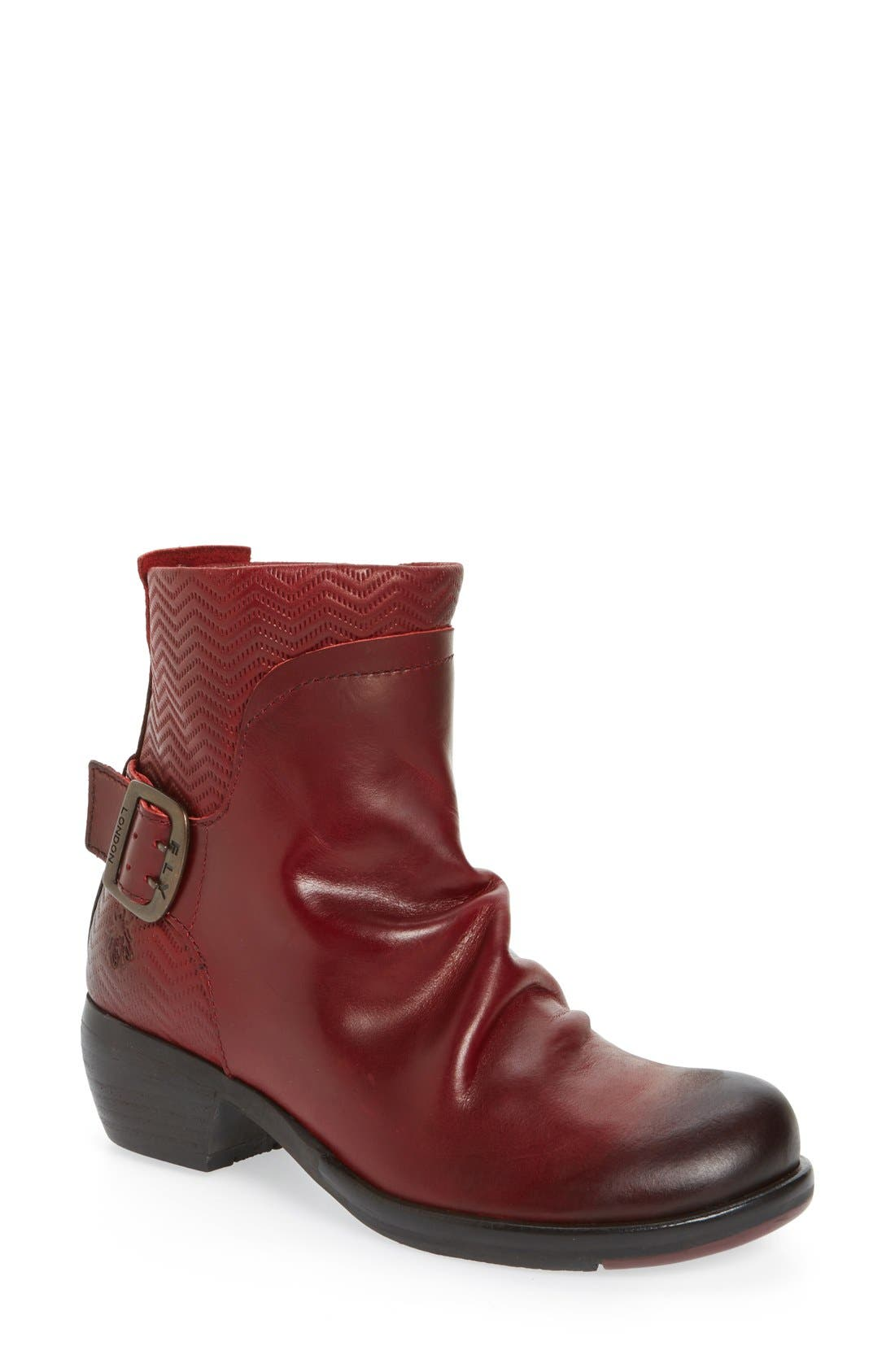 FLY LONDON Melb Slouchy Buckle Strap Bootie