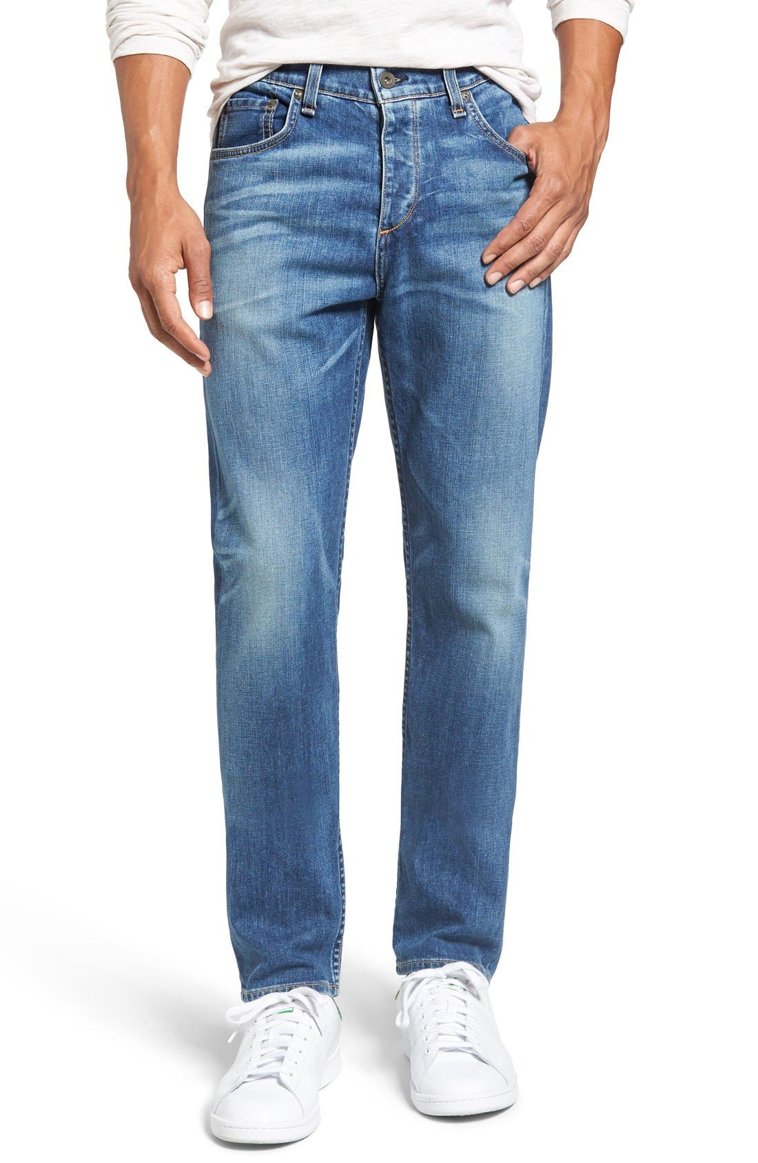 Main Image - rag & bone Standard Issue Fit 3 Slim Straight Leg Jeans (Bainbridge)