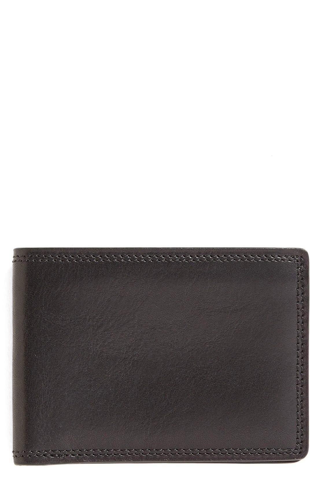 Leather Bifold Wallet,                             Main thumbnail 1, color,                             Black