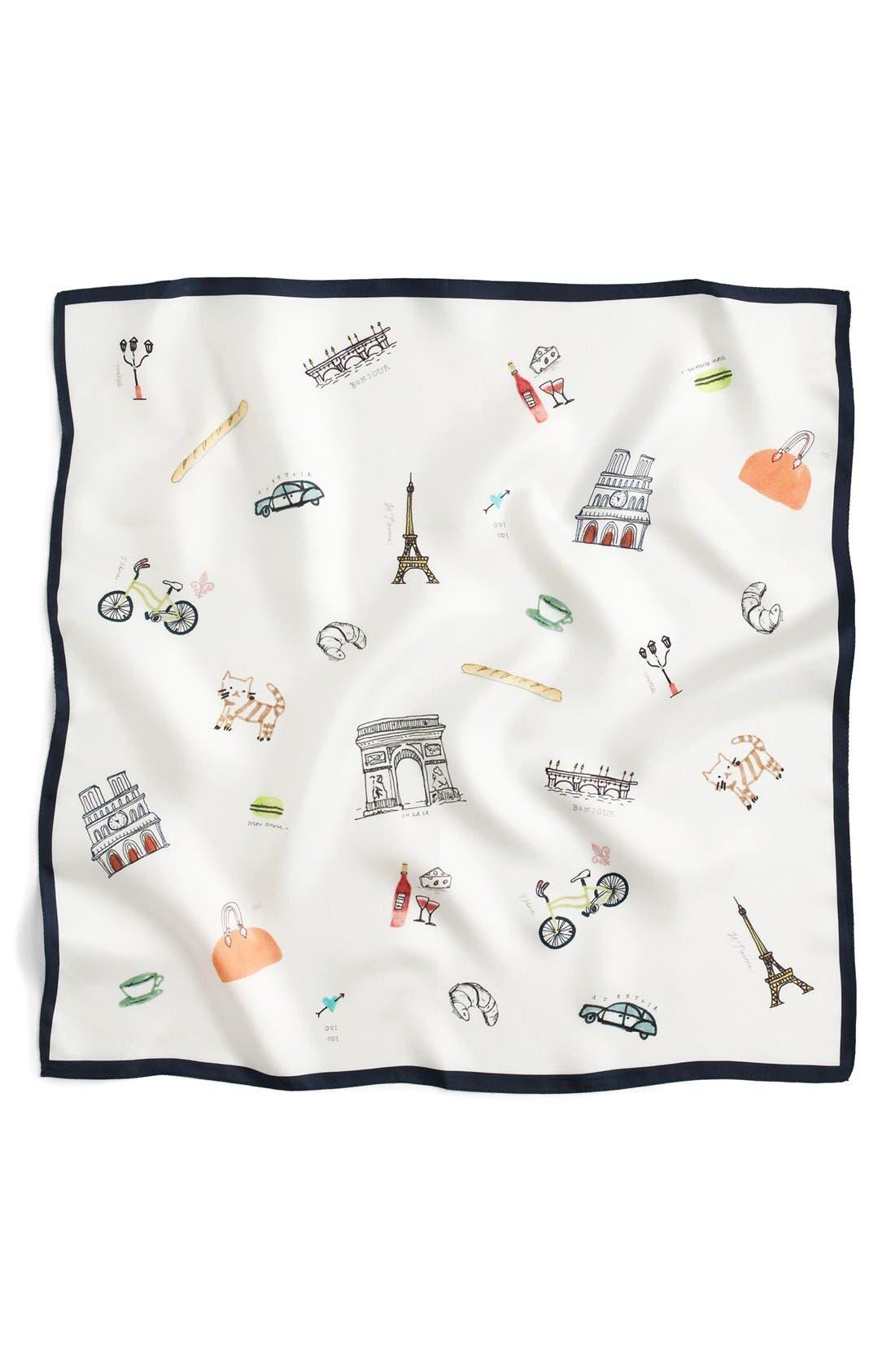 Alternate Image 2  - J.Crew 'Paris' Square Italian Silk Scarf