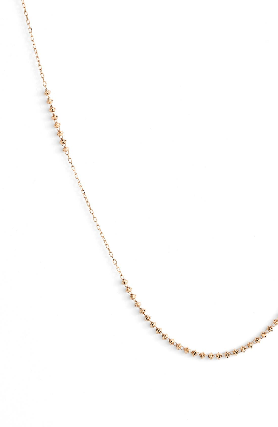'Shimmer' Strand Necklace,                             Alternate thumbnail 2, color,                             Yellow Gold