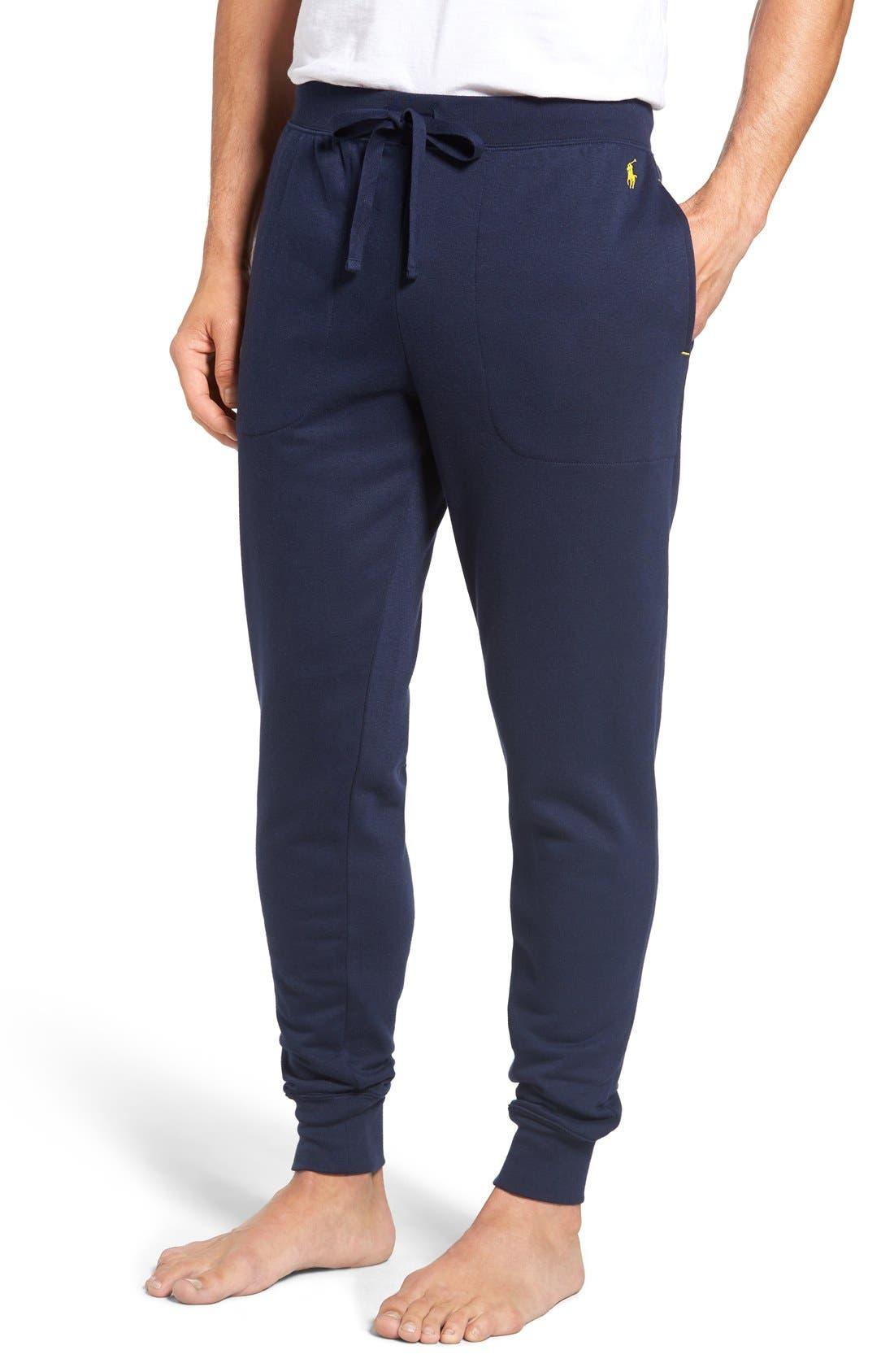 Main Image - Polo Ralph Lauren Brushed Jersey Cotton Blend Jogger Pants