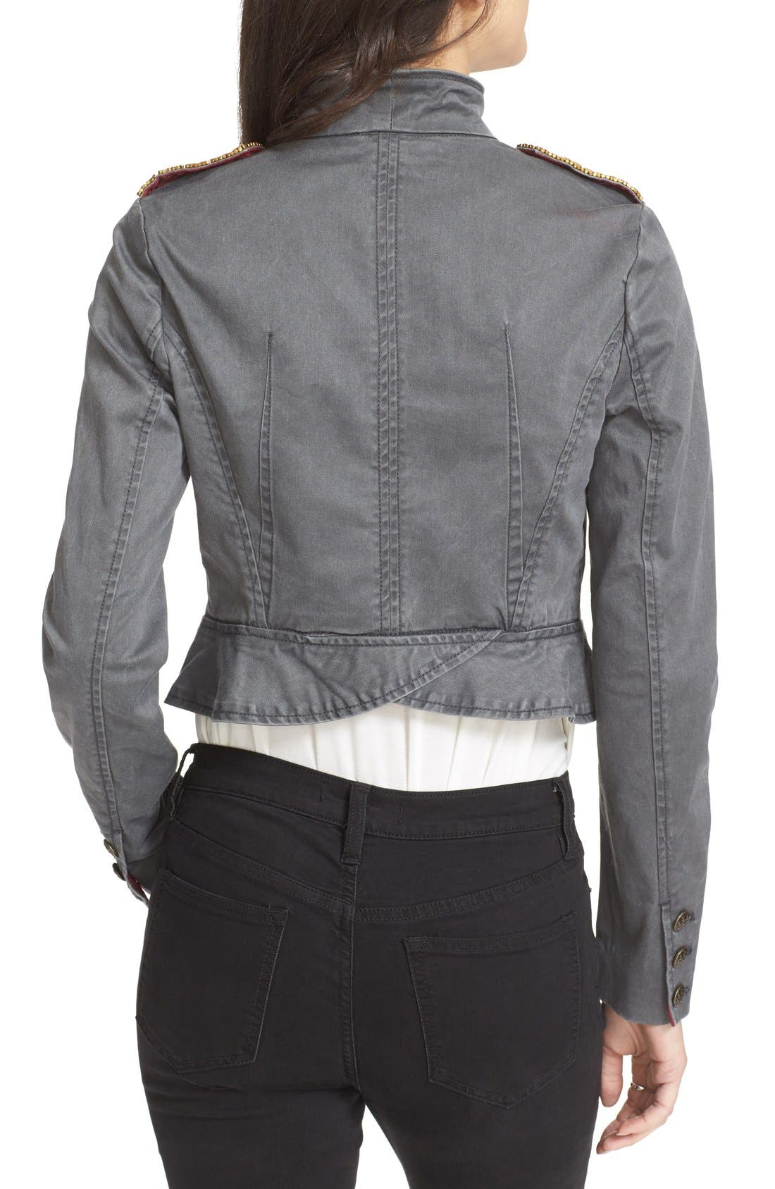 Alternate Image 2  - Free People Shrunken Officer Jacket