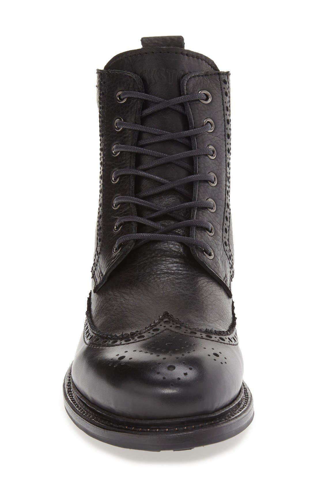 'KM24' Wingtip Boot,                             Alternate thumbnail 3, color,                             Black
