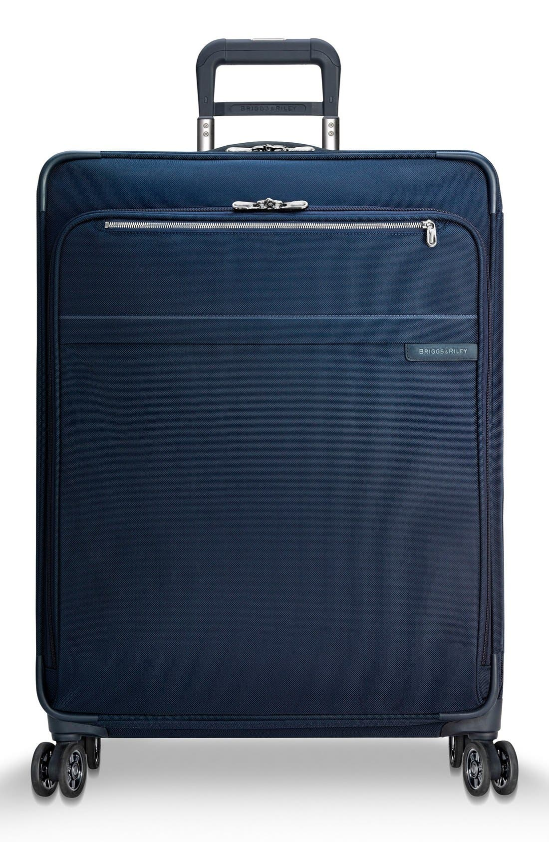 Baseline 28 Inch Expandable Rolling Suitcase,                             Main thumbnail 1, color,                             Navy