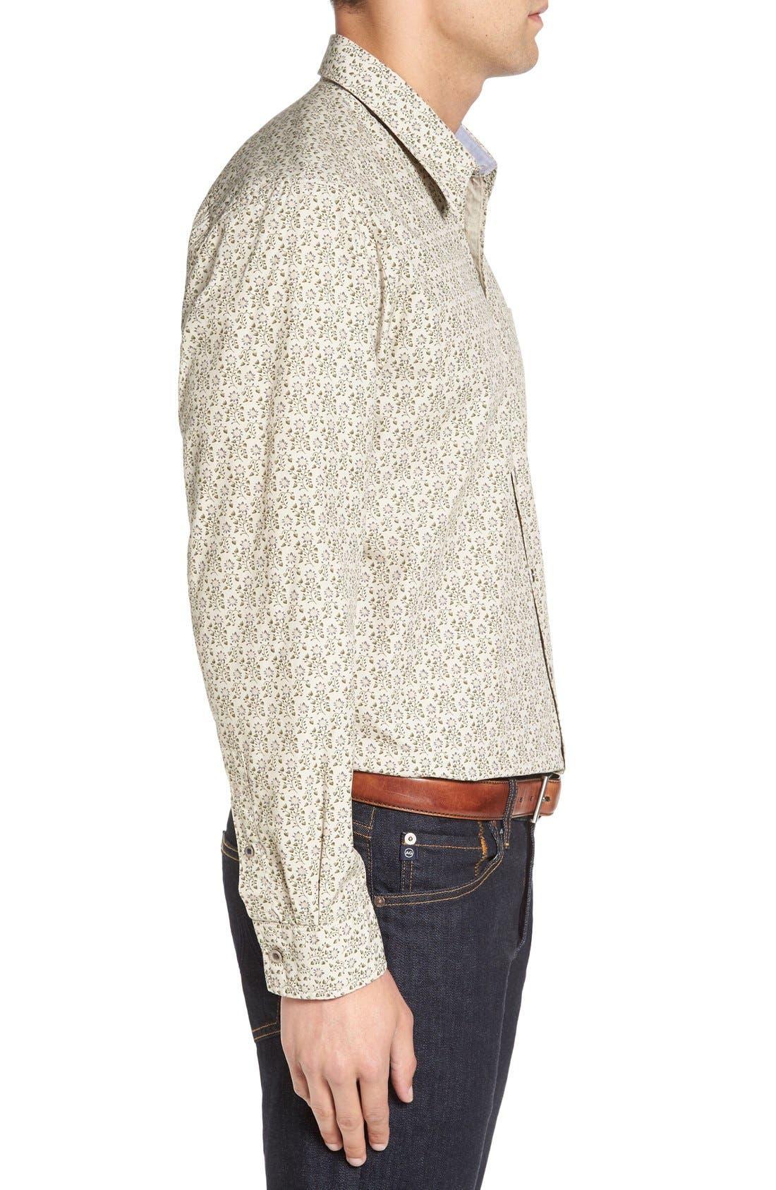 Alternate Image 3  - Cutter & Buck 'Winston' Regular Fit Print Sport Shirt (Big & Tall)