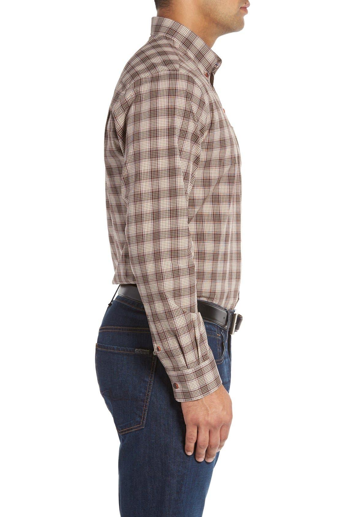 Alternate Image 3  - Cutter & Buck 'Ridge' Plaid Cotton Poplin Sport Shirt (Big & Tall)