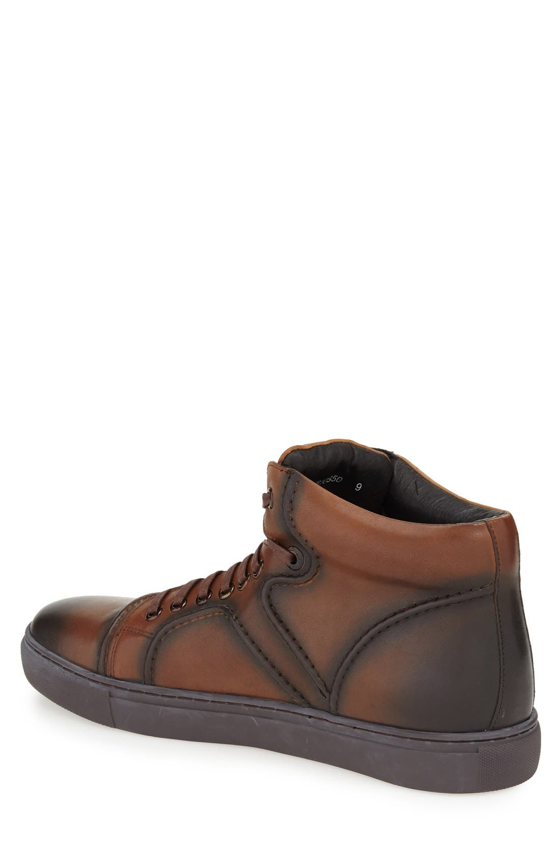 Vinyl Sneaker,                             Alternate thumbnail 2, color,                             Cognac