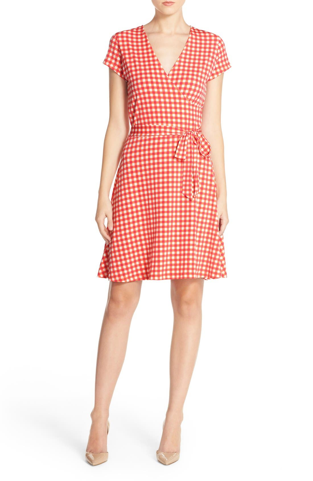 Alternate Image 5  - Leota Print Jersey Faux Wrap Dress