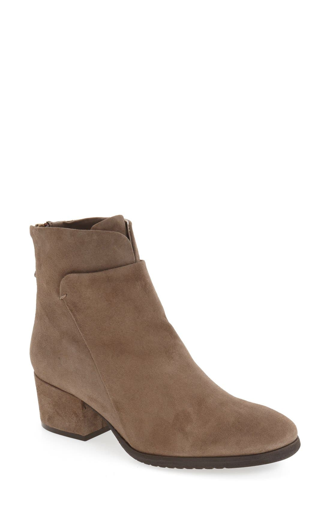 'Foss' Zip Bootie,                         Main,                         color, Fango Suede
