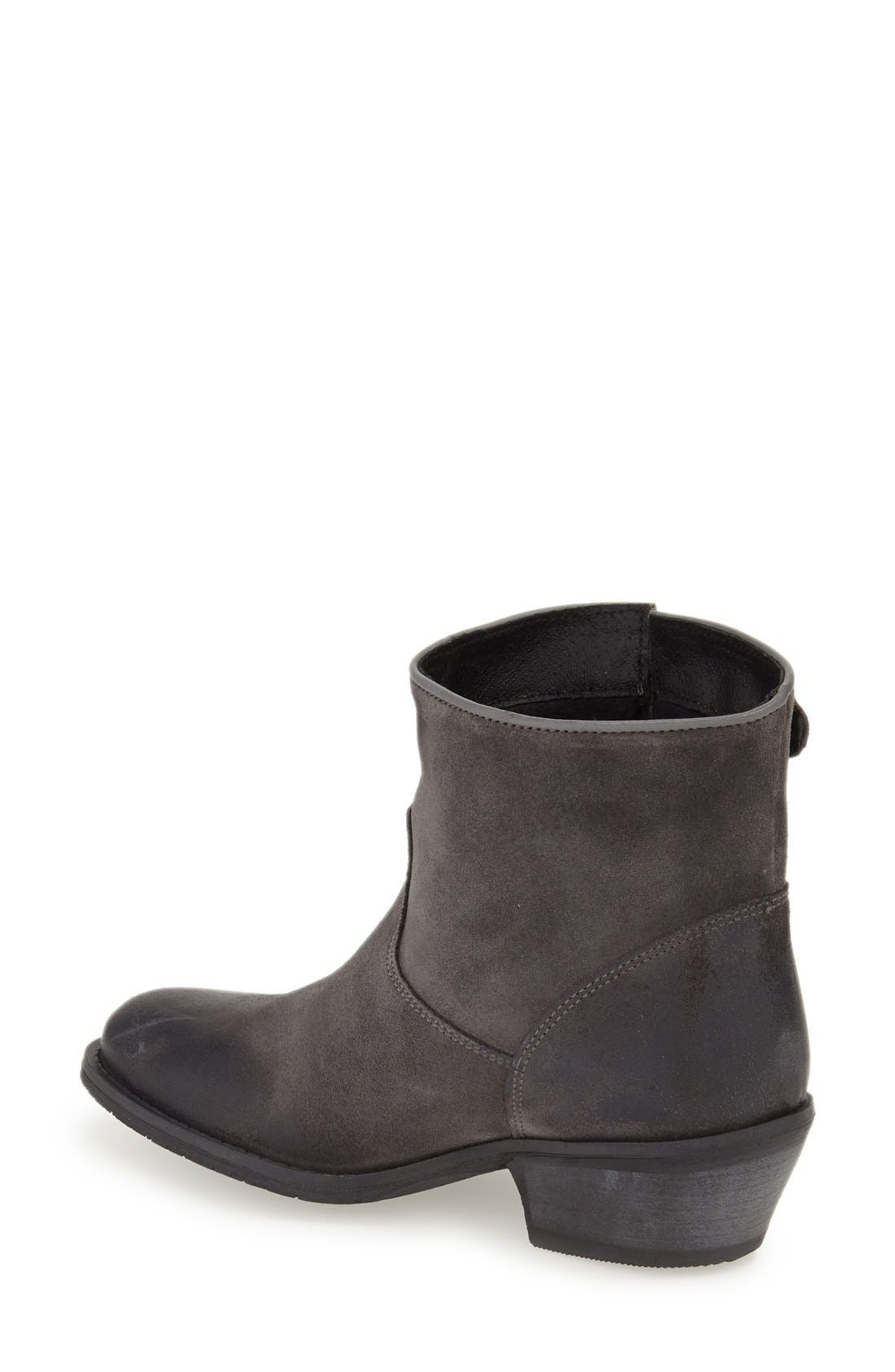'Ramona' Waterproof Bootie,                             Alternate thumbnail 2, color,                             Grey Oil Suede