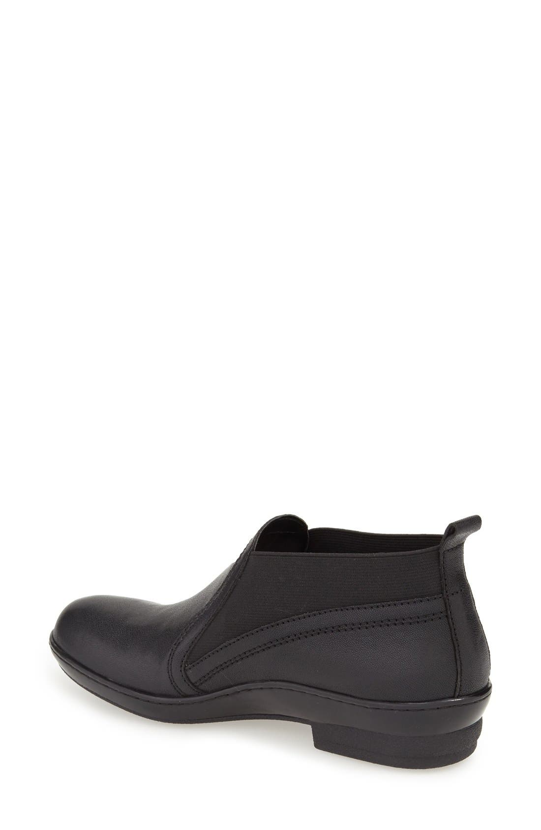 'Naya' Chelsea Boot,                             Alternate thumbnail 2, color,                             Black Leather