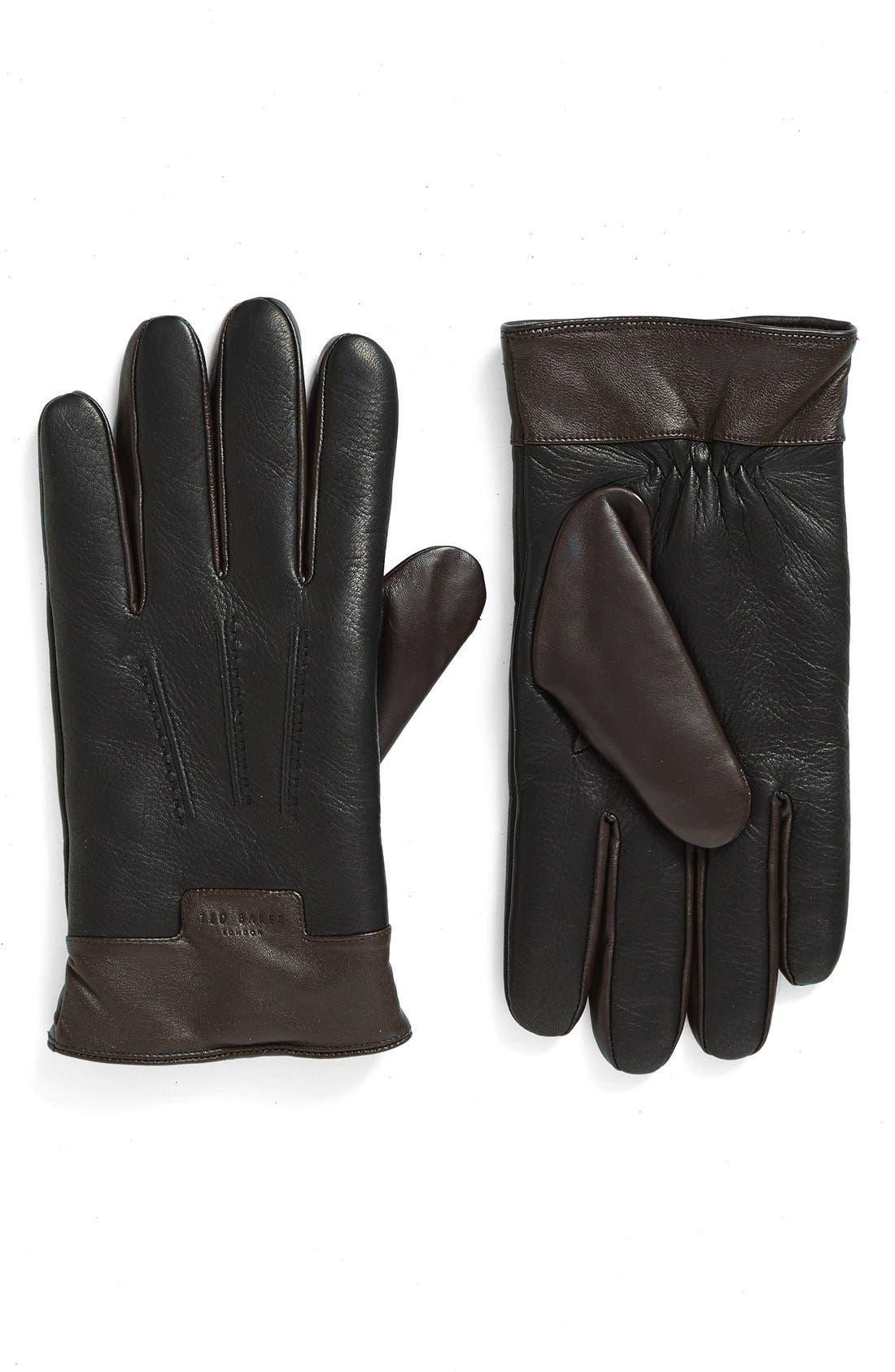 Alternate Image 1 Selected - Ted Baker London Leather Gloves