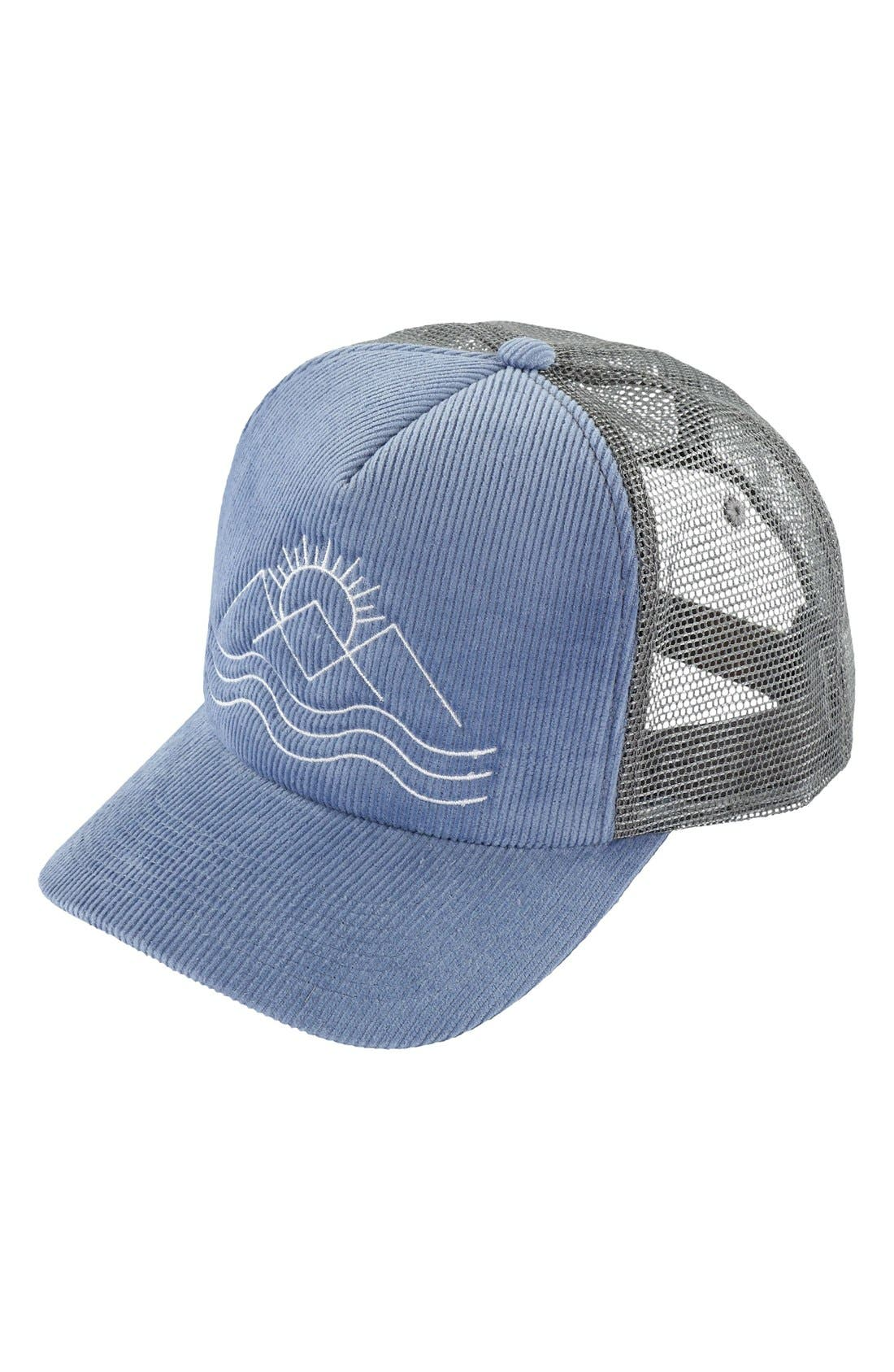 Alternate Image 1 Selected - O'Neill Outlook Corduroy Trucker Hat