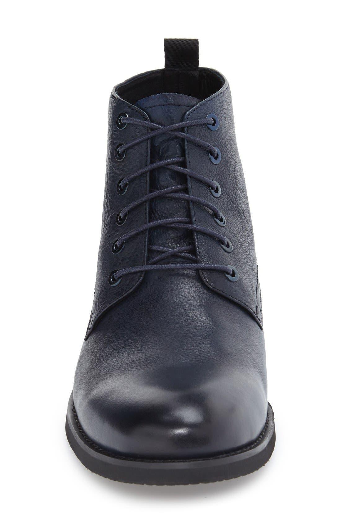 'Nereto' Plain Toe Boot,                             Alternate thumbnail 3, color,                             Navy