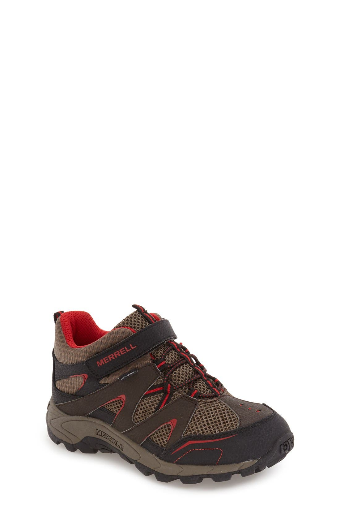 'Hilltop' Waterproof Sneaker,                             Main thumbnail 1, color,                             Brown