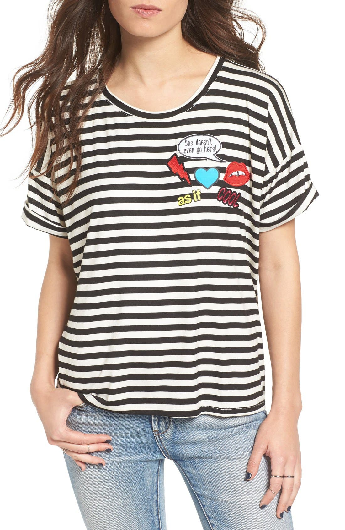 Alternate Image 1 Selected - Ten Sixty Sherman Patch Stripe Tee