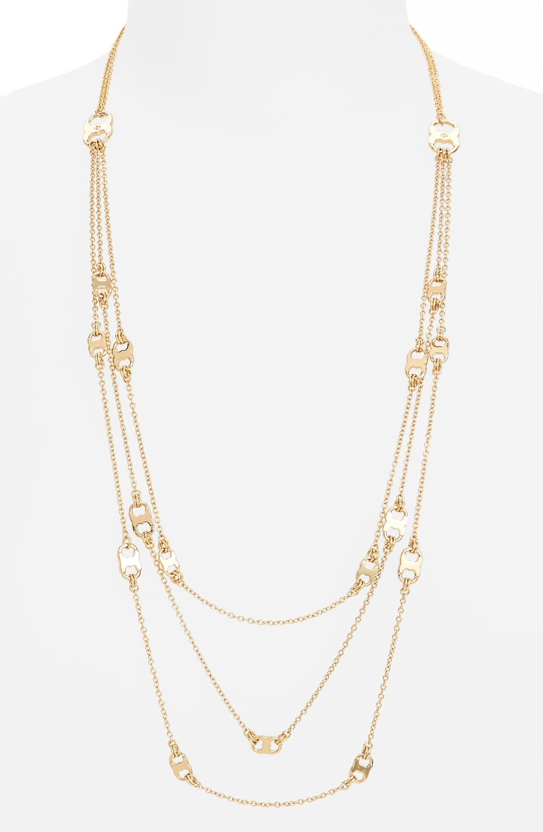 'Gemini' Link Multistrand Necklace,                             Main thumbnail 1, color,                             Gold