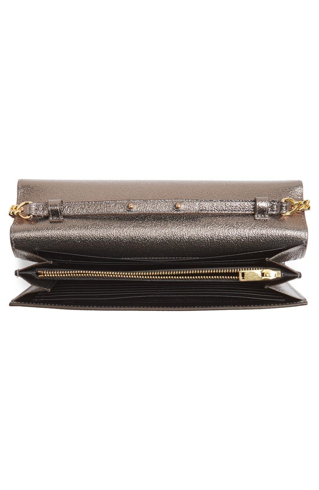 Alternate Image 4  - Saint Laurent Leather Wallet on a Chain